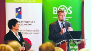 Anna Żyła, główny ekolog Banku Ochrony Środowiska, Bartłomiej Pawlak , prezes zarządu BOŚ EKO Profit, przedstawili m.in. możliwości finansowania inwestycji w zakresie odnawialnych źródeł energii. fot. Wojciech Górski