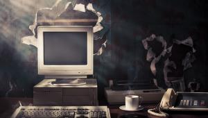 Stary komputer i faks