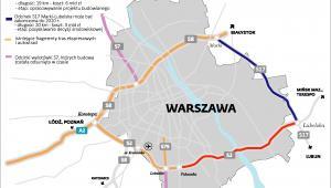 Obwodnica Warszawy mapa trasa