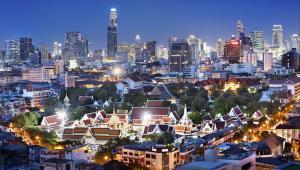 Panorama Bangkoku, Tajlandia.