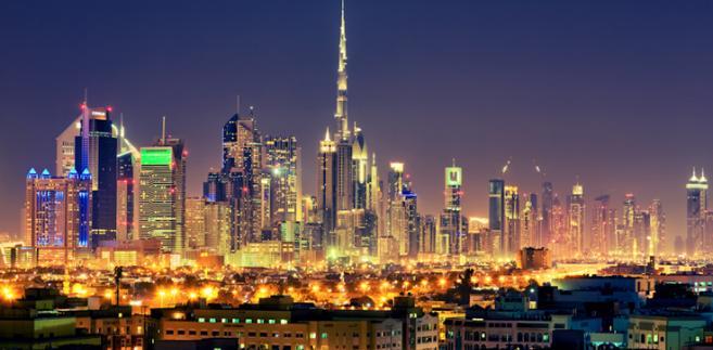 Linia drapaczy chmu w Dubaju