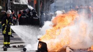 Protesty pod siedzibą EBC we Frankfurcie (3), 18.03.2015