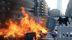 Protesty pod siedzibą EBC we Frankfurcie (5), 18.03.2015