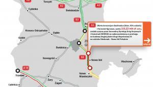 Droga ekspresowej S3 na odcinku Niedoradz - Nowa Sól Południe