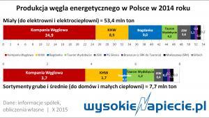 Produkcja węgla energetycznego w Polsce
