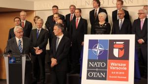Logo szczytu NATO w Warszawie Fot. MSZ / Krzysztof Garsztka, Katarzyna Sobiecka