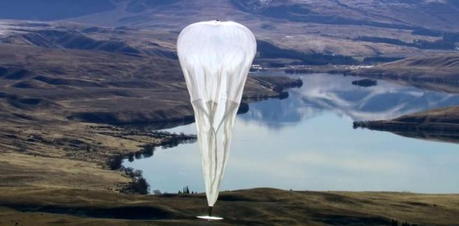 Internet z balonów od Google - Project Loon