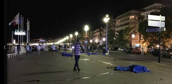 Zamachy terrorystyczne w Nicei, źródło: Twitter