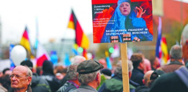Demonstracja zwolenników partii AfD w Berlinie, listopad 2015 r. HANNIBAL HANSCHKE/REUTERS/FORUM