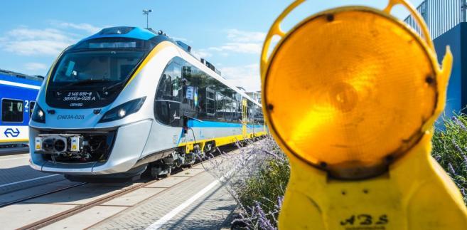 Pociąg Impuls od Newagu w czasie targów kolejowych Innotrans w Berlinie