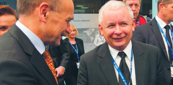 Zygmunt Berdychowski z Jarosławem Kaczyńskim (rok 2011)