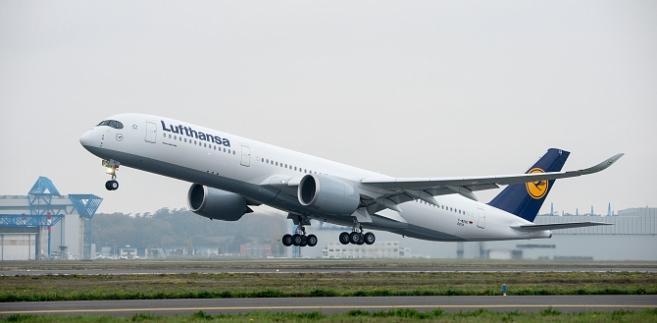 Airbus A350-900 podczas startu