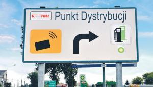 Oznakowanie miejsc obsługi klienta przy drodze
