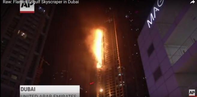 Pożar wieżowca w Dubaju