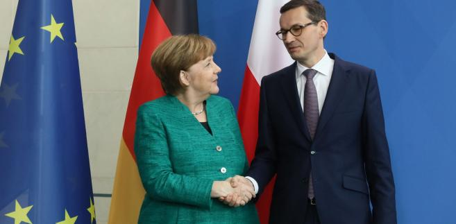kanclerz Angela Merkel i premier Mateusz Morawiecki