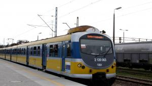 Pociąg na stacji PKP Gdańsk Stadion Expo