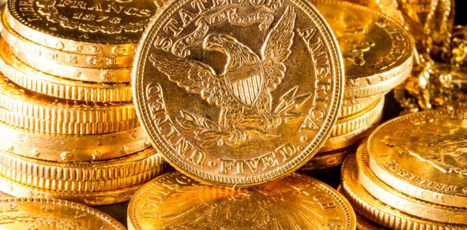 Złota, amerykańska 5-dolarówka