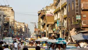 Miasto Rawalpindi w Pakistanie - bazar Raja