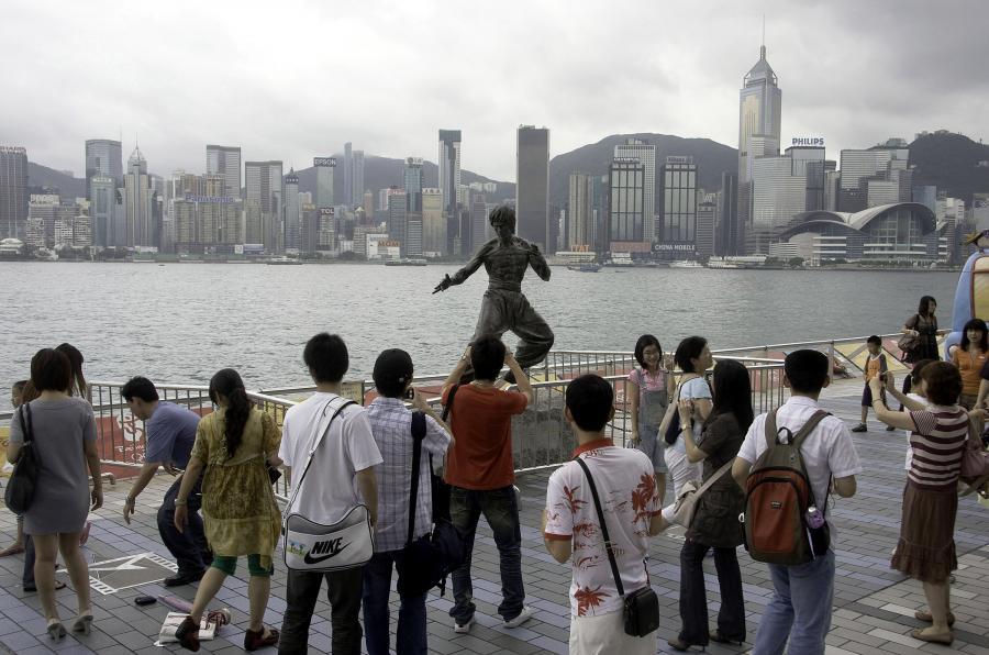 Pomnik Bruce'a Lee w Hongkongu