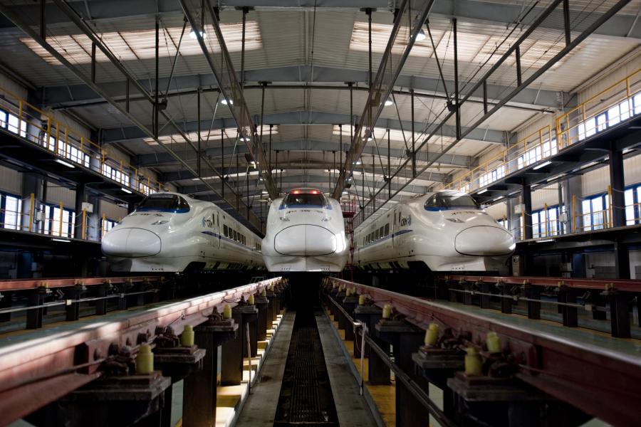 Jeden z chińskich dworców kolejowych w Pekinie