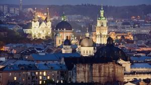 Panorama Lwowa, Ukraina.