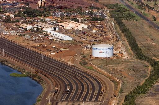 Port przeładunkowy  BHP Billition w Nelson Point , Australii.