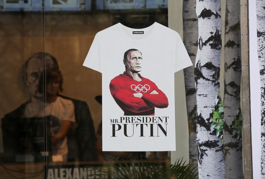 Koszulka z Władimirem Putinem, sklep w Moskwie, 10.11.2014