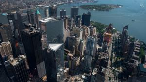 Widok na Nowy Jork  z tarasu widokowego One World Trade Center