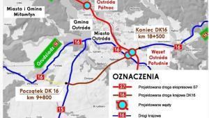 Umowa na budowę siódemki i szesnastki wokół Ostródy podpisana, źródło GDDKiA