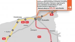 S6 - Koszalin - Sianowa, S11 - Bielice - Koszalin Zachód