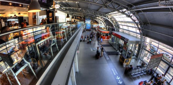Modlin - wnętrze terminalu zaprojektowanego przez Stefana Kuryłowicza