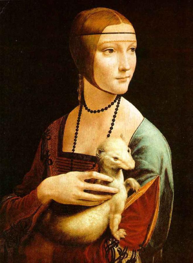 """Dama z gronostajem"" Leonarda da Vinci"