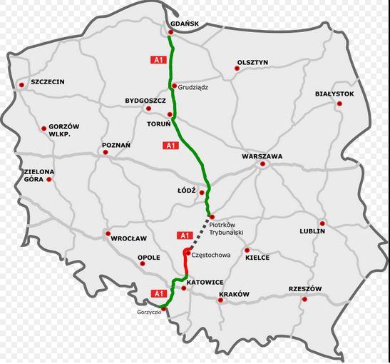 Budowa Brakujacego Odcinka Autostrady A1 Zostanie Przyspieszona