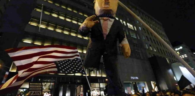 Protesty w USA przeciw Trumpowi  EPA/PETER FOLEY Dostawca: PAP/EPA.