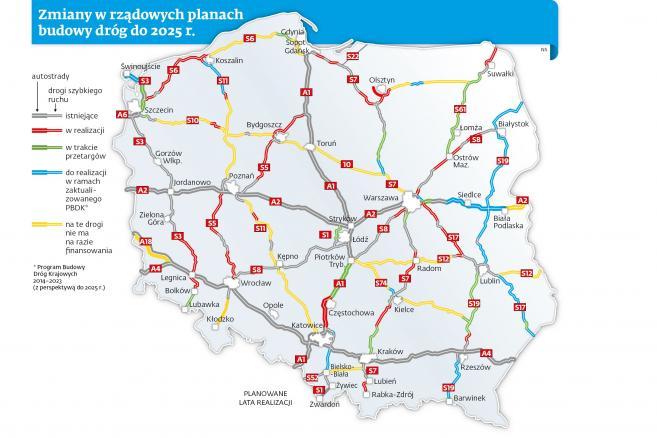 Autostrady I Drogi Ekspresowe W Polsce Plany Budowy Do 2025 Roku