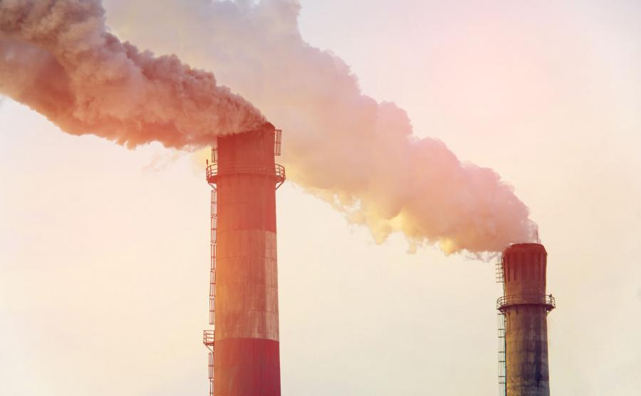 Dymiące kominy;emisja CO2