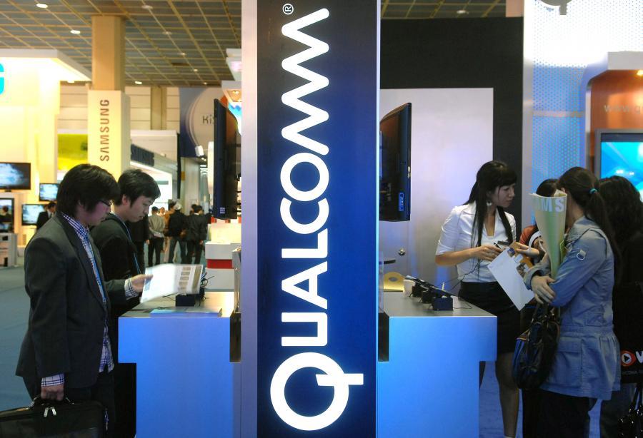 Stoisko firmy Qualcomm na targach nowych technologii w Seulu. Fot. Seokyong Lee/Bloomberg News