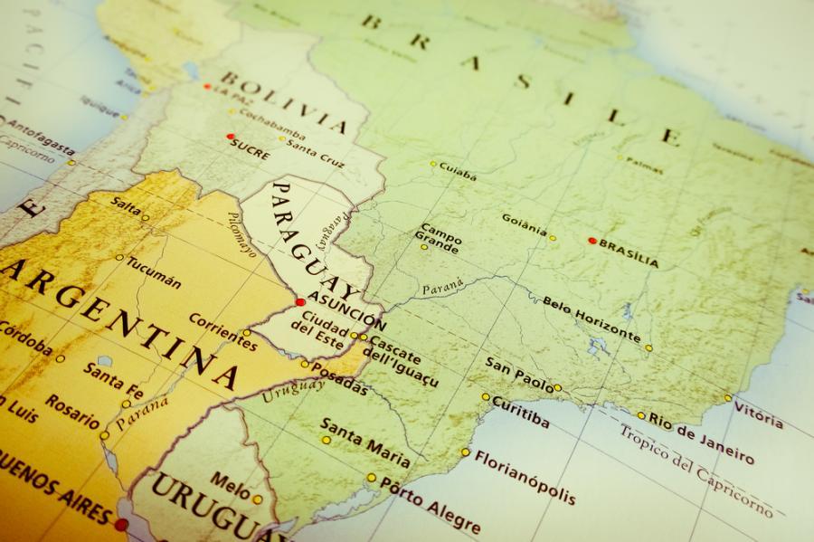 Ameryka Południowa, Brazylia, Paragwaj, Argentyna