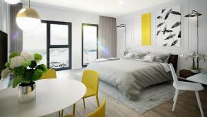 W obiekcie znajdują się komfortowe apartamenty z malowniczym widokiem na górskie stoki