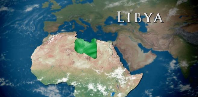 Mapa konturowa Libii