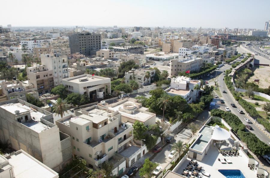Widok na Trypolis, stolicę Libii