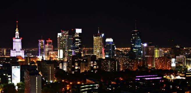 Warszawa nocą fot. Dorota Kalinowska