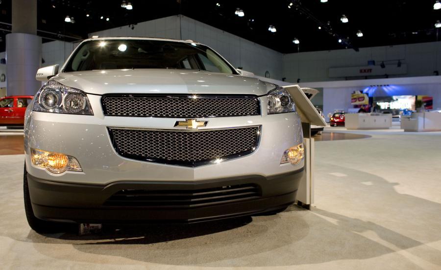 Chevrolet prezentowany przez General Motors podczas listopadowego salonu samochodowego w Los Angeles. Fot. Bloomberg