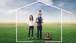 Dom. kredyt, rodzina, nieruchomości Fot. Shutterstock