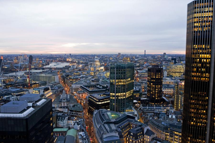 Panorama Londynu. Fot. Bloomberg