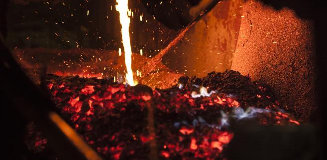 Piec do wytopu miedzi, huta w Głogowie, KGHM, fot. Bartek Sadowski/Bloomberg