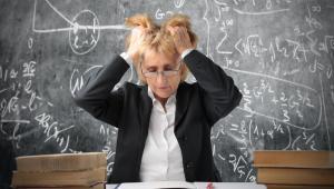 Nauczycielka, szkoła, stres